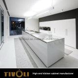 Meubilair van de Keuken van het Eiland Benchtop van de Keukenkast van de Flat van de douane het Marmeren (AP010)