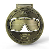 Medaglia su ordinazione della corsa del ciclo della stazione di finitura di figura 38km degli occhiali di protezione della Malesia