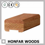 Corrimão da madeira contínua de projeto moderno para o europeu
