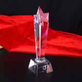 Fabrik-Verkaufs-Qualitäts-Stern-Kristallpreis-Trophäe für Dekoration