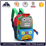 Cute Robot Design Child School Backpack Shoulder Bag para crianças