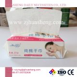 Papel de algodão descartáveis tecido Facial com Nonwoven Fabric