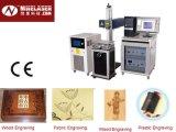 Nueve de alta precisión 30W CO2 Máquina de marcado láser equipemnt de papel / Vidrio / Cristal / Cuero / Plástico
