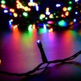 A corda do diodo emissor de luz ilumina as luzes de Natal do partido da decoração do fio de cobre ao ar livre