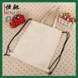 Cordón de lona Tote Bag mochila para ir de compras, la escuela