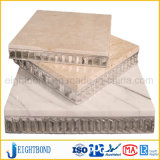 Panneau en aluminium de marbre de nid d'abeilles pour le revêtement de matériau de construction