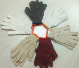 Ddsafety 2017 7 filati del calibro 4 annerisce i guanti del poliestere del cotone