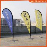 3PCS屋外またはイベントの広告するか、またはSandbeach (モデルNo.のためのカスタム涙の羽のフラグ: Qz-013)