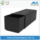 Schwarze kundenspezifische Großhandelsdongguan-Haar-Extensions-Perücke-verpackenkasten mit Firmenzeichen