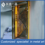 Portello d'acciaio interno di lusso personalizzato del metallo KTV con colore del rivestimento
