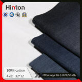 Tessuto nero 100% di Shirting del denim di colore del tessuto 4oz del Jean del cotone