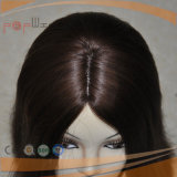 최고 급료 Virgin 색깔 상한 기술 실크 최고 레이스 정면 여자 가발