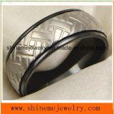 Bague à bijoux en titane en carré noir 18k (TR1829)