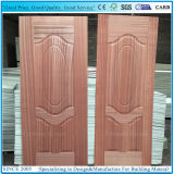 EV Sapelliの木のベニヤが付いている2+1パネル・ドアの皮の合板