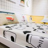 Bedsheet luxuoso do fundamento do algodão do projeto