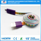 Nuevo tipo de alambre espiral con cute dibujos animados impreso cable USB