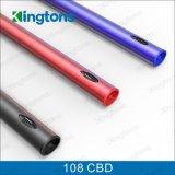 Ce dell'olio di Cbd della penna di Vape della batteria 108 della penna del vaporizzatore di Kingtons Disrechargeable passato