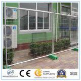 Горячая окунутая гальванизированная загородка сваренной сетки, временно загородка для конструкции