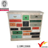 Madeira de sapato sólida Vintage Shabby Chic Furniture Multi-Drawer
