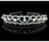 Capelli di cristallo degli accessori dei monili del Rhinestone di amore delle ragazze del cuore della fascia della parte superiore del diadema