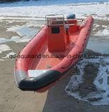 Aqualand 35feet 10.5m 늑골 구조 경비 군 또는 Fiebrglass 엄밀한 팽창식 모터 배 (rib1050b)