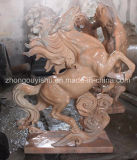 La escultura de animales, un caballo de escultura estatua de mármol