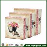 Boîte-cadeau de papier européenne élégante de qualité