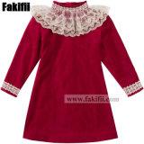 Usine bébé/enfants Enfants uniforme les vêtements de mode de nouvelle conception de la Dentelle Velvet Girl Dress Vêtements Vêtement pour bébé