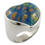 Flor de Piedra de piedras preciosas de los anillos de dedo