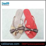 Приятный красивых техническим вазелином Bowknot выдувания воздуха женская обувь Тхонг Шлепанцы тапочки