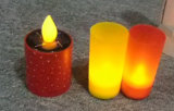 Luces solares de los sostenedores de vela del LED para la cena del regalo de cumpleaños votiva