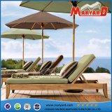 Новый Lounger Sun пляжа 2016 с регулируемым задним люнетом