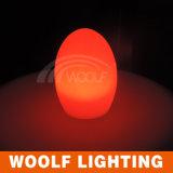 LED 명확한 플라스틱 테이블 계란 램프 빛