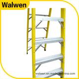Трап платформы стеклоткани 6 шагов складывая с безопасным рельсом