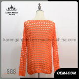 Breites Neck Zipper Pocket Long Sleeve Sweater für Women