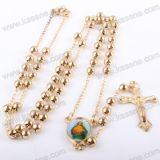 Series Small Copper Beads Gold Metal Rosaryの最も新しいFashion Religious Chain