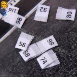Centro de alta qualidade Personalizada Sinicline tecido dobrado tamanho de etiqueta