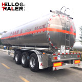 Acoplado modelo del petrolero del combustible del neumático 42000L de Tanzania del tri árbol solo