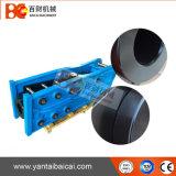 Abrir los cortacircuítos concretos hidráulicos montados para PC210
