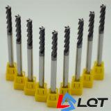 Торцевые фрезы квадрата карбида вольфрама Lqt HRC55 для подвергать механической обработке