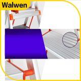 Faltende Ligthweight Stahljobstep-Strichleiter mit sicherer Schiene