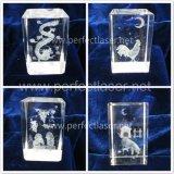 Новый гравировальный станок лазера печатание фотоего типа 3D стеклянный кристаллический