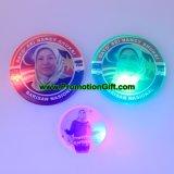 Impresos personalizados LED parpadeante botón Pin como