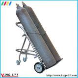 Trole móvel da mão do cilindro do dobro do aço inoxidável com corrente Ty130A