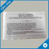 내복 브래지어를 위한 롤에 있는 만족한 배려 레이블 세척 명령에 의하여 인쇄되는 레이블