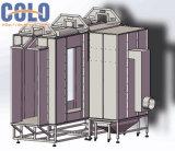 Attraverso la cabina di spruzzo del rivestimento della polvere dell'alimentazione