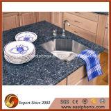 Кухня Worktops/Countertop естественного Polished красивейшего гранита голубая