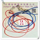 Imbracatura rivestita 7*7-6mm della corda del filo di acciaio del PVC