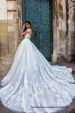 Robe de mariage en cristal nuptiale de Tulle de lacet de robes de bille d'accent bleu de couleur 2017 Wl02