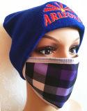 女性の刺繍マスクおよび帽子